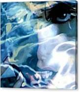 Milla Jovovich Portrait - Water Reflections Series Canvas Print