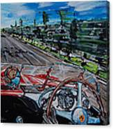 Mille Miglia On Board With Peter Collins Canvas Print
