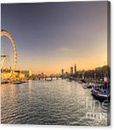Millenium Wheel Dusk  Canvas Print