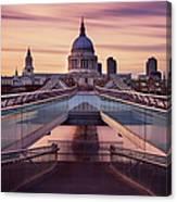 Millennium Bridge Leading Towards St Canvas Print