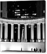 Millennium Monument And Fountain Chicago Canvas Print