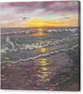 Miller Ocean Sunset Canvas Print