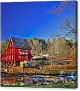 Historic Millmore Mill Shoulder Bone Creek Canvas Print