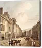 Milsom Street, From Bath Illustrated Canvas Print