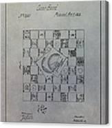 Milton Bradley Life Game Patent Canvas Print