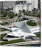 Milwaukee Art Museum Aerial Canvas Print