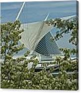 Milwaukee Art Museum Through Flowered Trees Canvas Print
