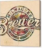 Milwaukee Brewers Poster Vintage Canvas Print
