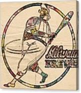 Milwaukee Brewers Vintage Art Canvas Print