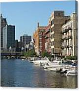 Milwaukee River Architecture 2 Canvas Print
