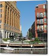 Milwaukee River Architecture 5 Canvas Print