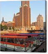 Milwaukee River Theater District 5 Canvas Print