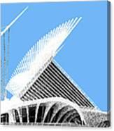 Milwaukee Skyline Art Museum - Light Blue Canvas Print