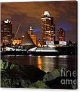 Milwaukee Skyline At Dusk Canvas Print