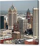Milwaukee Wisconsin Skyline Aerial Canvas Print