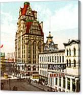 Milwaukee's Wisconsin Street 1899 Canvas Print