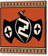 Mimbres Tribal Bat Spirit Canvas Print