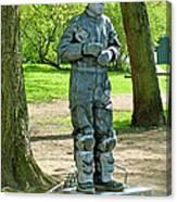 Mime In A Park In Tallinn-estonia Canvas Print