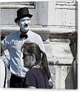 Mime In Venice Canvas Print