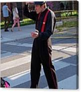 Mime Performer On The Street Canvas Print