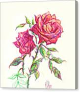 Minature Red Rose Canvas Print