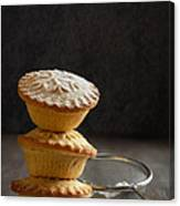 Mince Pie Stack Canvas Print