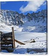 Mine Relics In The Snow Canvas Print