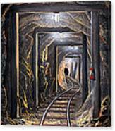 Mine Shaft Mural Canvas Print