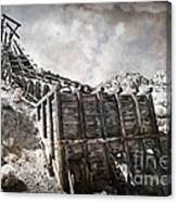 Mine Structure In Silver City Canvas Print
