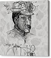 Miner's Lamp Patent Canvas Print