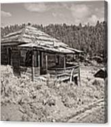 Miner's Shack - Comet Ghost Mine - Montana Canvas Print