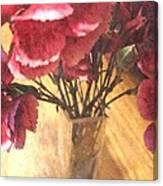 Mini Carnation Bouquet Canvas Print