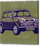 Mini Cooper - Car Art Sketch Poster Canvas Print