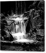 Mini Falls Black And White Canvas Print