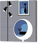 Mini Space Cat Canvas Print