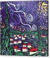 Mini Starry Night Canvas Print