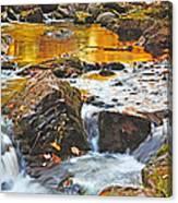 Mini Waterfall In The Porkies Canvas Print