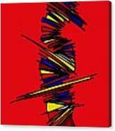 Minimalist 2 Red Canvas Print