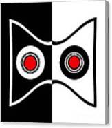 Minimalist Art Geometric Black White Red Abstract Print No.50. Canvas Print