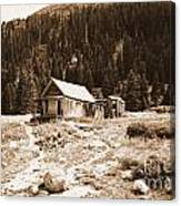 Mining House In Black And White Canvas Print