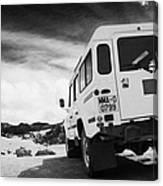 Ministerio De Medio Ambiente Land Rover At Teide National Park Tenerife Canary Islands Spain Canvas Print
