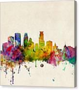 Minneapolis Minnesota Skyline Canvas Print