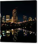 Minneapolis Night Skyline Canvas Print