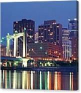 Minneapolis Skyline At Night Canvas Print