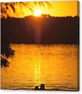 Minneapolis Sunset Love Canvas Print