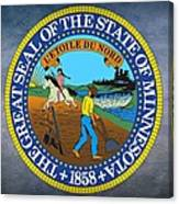 minnesota state seal canvas print
