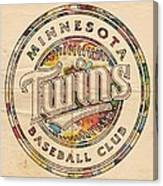 Minnesota Twins Logo Vintage Canvas Print