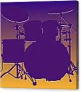 Minnesota Vikings Drum Set Canvas Print