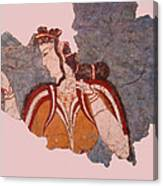 Minoan Wall Painting Canvas Print