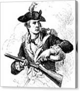 Minutemen Soldier Canvas Print
